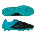 Nike Magista Opus Lthr FG Soccer Cleats - Black/Turquoise Blue