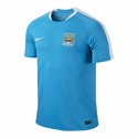 Nike Manchester City Flash SS Training Top - Chlorine Blue