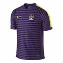Nike Manchester City Squad SS Training Top - Club Purple