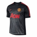 Nike Manchester United Squad SS PM Top 2 - Black
