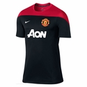 Nike Manchester United Squad SS Training Jersey - Black