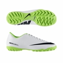 Nike Mercurial Victory IV TF Turf Soccer Shoes - White/Electric Green