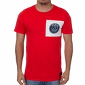 Nike Paris Saint-Germain Crest Tee - Challenge Red