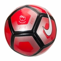 Nike Pitch PL Soccer Ball - Red/Silver