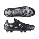 Nike Tiempo Legend V FG Soccer Cleats - Black/Volt