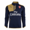 Puma Arsenal 1/4 Zip Training Top - Black Iris