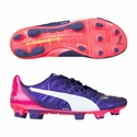Puma evoPower 1.2 FG Firm Ground Soccer Cleats - Peacoat