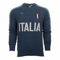 Puma Italy Azzurri Henley Crew Sweater - Dark Denim