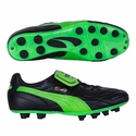 Puma King Top M.I.I. FG Soccer Cleats - Black /Green Gecko