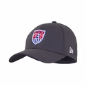 U.S. Soccer 39THIRTY Stretch Fit Poly Cap - Graphite