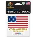 USA 2016 Copa America 4x4 Decal