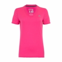 Women's adidas Ultimate V-Neck Tee - Solar Pink