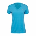 Women's adidas Ultimate V-Neck Training Tee - Cyan