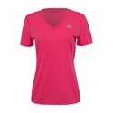Women's adidas Ultimate V-Neck Training Tee - Super Pink