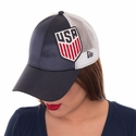 Women's New Era 9FORTY Glitzer Snap Back - Hthr/Red