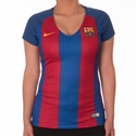 Women's Nike FC Barcelona 2016/2017 Stadium Home Jersey