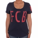 Women's Nike FC Barcelona Squad Tee - Midnight Navy