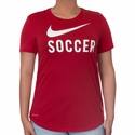 Women's Nike Soccer Graphic Tee - Gym Red