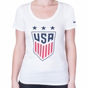 Women's Nike USA 3-Star Crest Tee - White