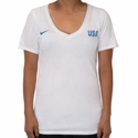 Women's Nike USA Match Tee - White