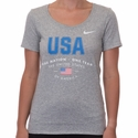 Women's Nike USA Verbiage Tee - DK Grey Heather