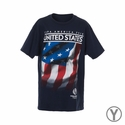 Youth Fifth Sun USA 2016 Copa America Flag Tee - Navy