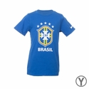 Youth Nike Brazil Crest Tee - Varsity Royal