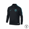 Youth Nike FC Barcelona Squad Drill Top - Black