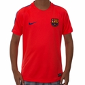 Youth Nike FC Barcelona Squad SS Top - Bright Crimson