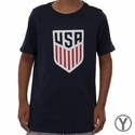 Youth Nike USA Crest Tee - Obsidian