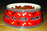 Bad to the Bone Dog Bowl