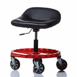 Padded Pneumatic Rolling Seat