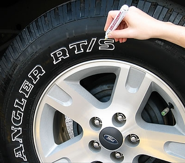Tire White Letter Pen