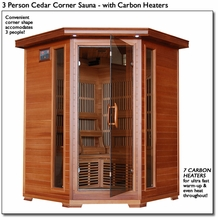 3 Person Cedar Far Infrared Sauna With Carbon Heaters