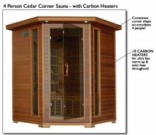 4 Person Cedar Far Infrared Sauna With Carbon Heaters