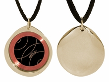 Q-Link 14K Gold Pebble SRT-3 Pendant