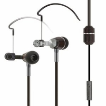 RF3 ENVi Natural Wood Stereo with Dual Earhooks Radiation-Free Cell Phone Headset