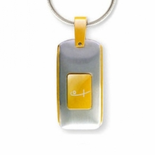 Shuzi Bottle Like Brass EMF Pendant