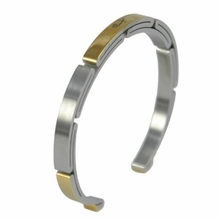 Shuzi Two Tone Sports EMF Cuff Bracelet - Ladies