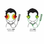 Vest Anti Radiation Wired Headset