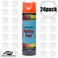 Aervoe 247 24pk 17oz Fluorescent Orange Construction Writing Marking Paint