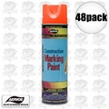 Aervoe 247 48pk 17oz Fluorescent Orange Construction Marking Paint