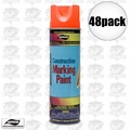 Aervoe 247 48pk 17oz Fluorescent Orange Construction Writing Marking Paint