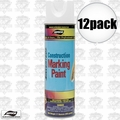 Aervoe 255 12pk 17oz Fluorescent White Construction Marking Paint