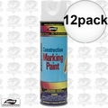 Aervoe 255 12pk 17oz Fluorescent White Construction Writing Marking Paint