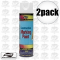 Aervoe 255 2pk 17oz Fluorescent White Construction Marking Paint
