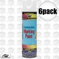 Aervoe 255 6pk 17oz Fluorescent White Construction Marking Paint