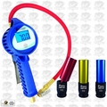 Astro Pneumatic 3018 3.5'' Digital Tire Inflator with Hose + 3 Tire Sockets