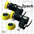 "Astro Pneumatic 321 2pk Onyx 2"" Random Orbit Sander - Velcro - 3Mm Orbit"