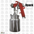 Astro Pneumatic 4008 8pk Spray Gun with Cup - Red Handle 1.8mm Nozzle
